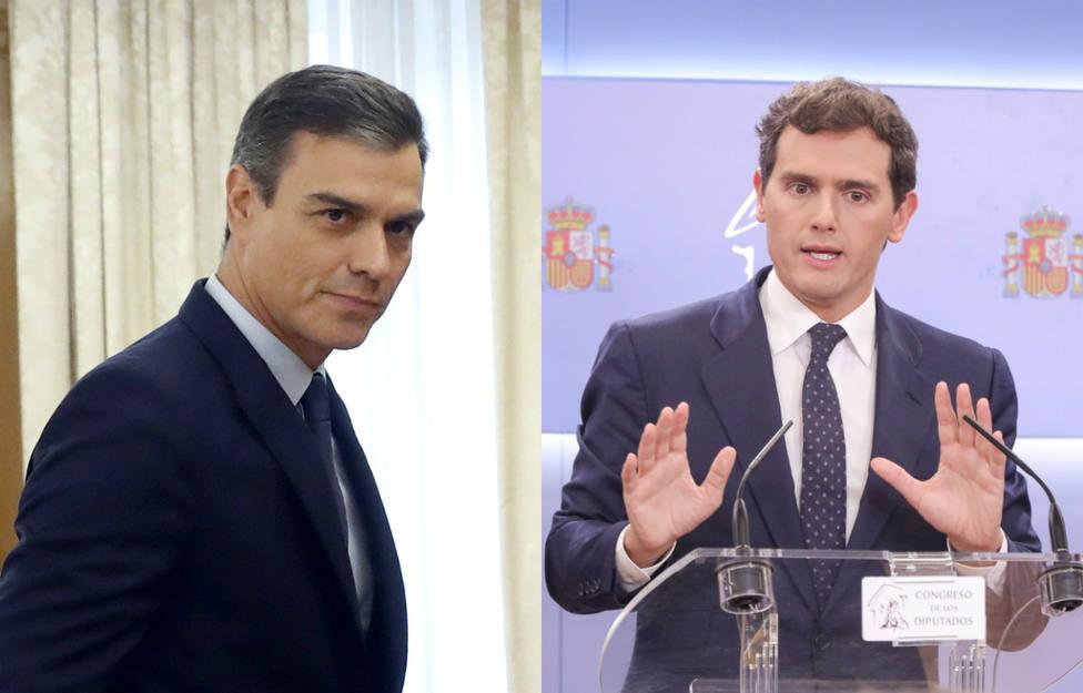 El tierno 'saludo' con el que Pedro Sánchez ha intentado conquistar a Albert Rivera