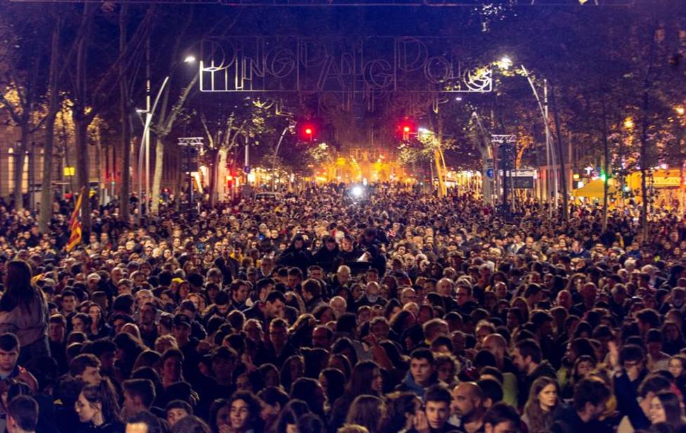 Cataluña vive una jornada de reflexión atípica entre actos reivindicativos