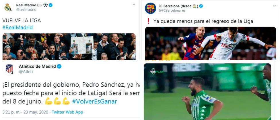Los clubes celebran la luz verde del Gobierno a LaLiga