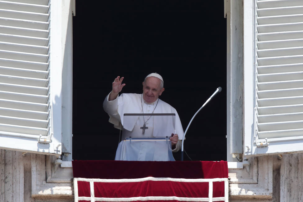 Pope Francis Angelus prayer in the Vatican