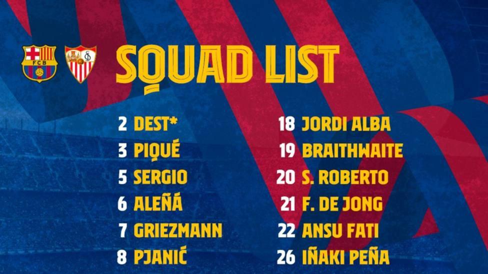 Sergiño Dest, a falta de confrimación de LaLiga, y Dembelé, novedades en la lista del Barça