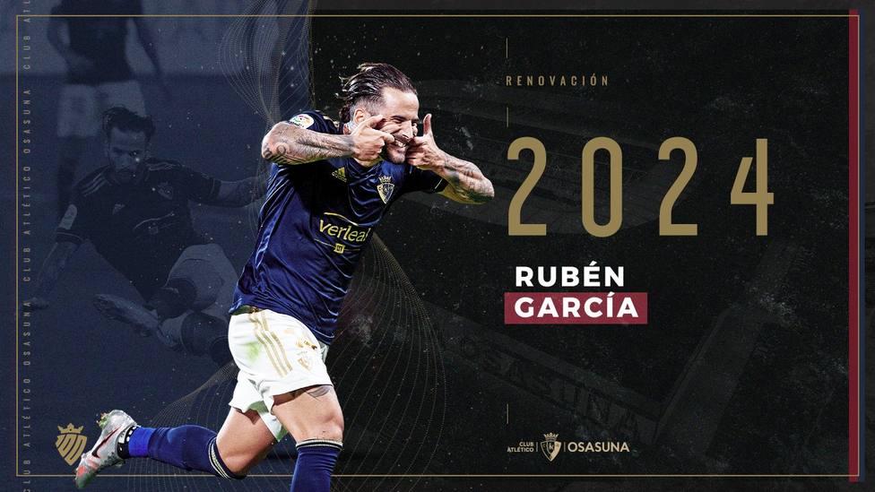 Rubén García anuncia su renovación con Osasuna al estilo del Lobo de Wall Street