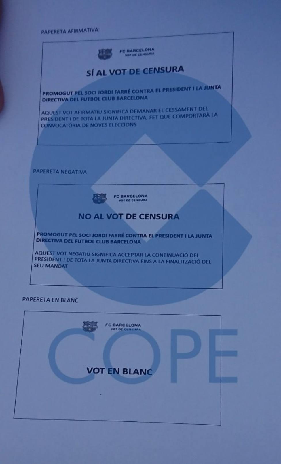 3 papeletas del referéndum