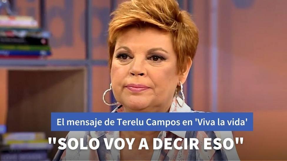 El mensaje definitivo de Terelu Campos tras la polémica con Jorge Javier Vázquez en 'Viva la vida'