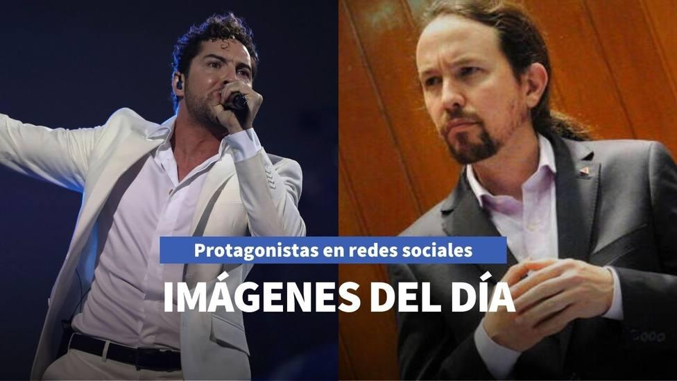 Imágenes del día: el nuevo hijo de David Bisbal y el mensaje de Pablo Iglesias al pueblo chileno