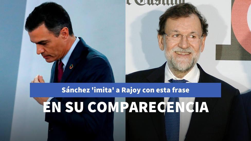 Sánchez imita a Rajoy con esta frase de su última comparecencia