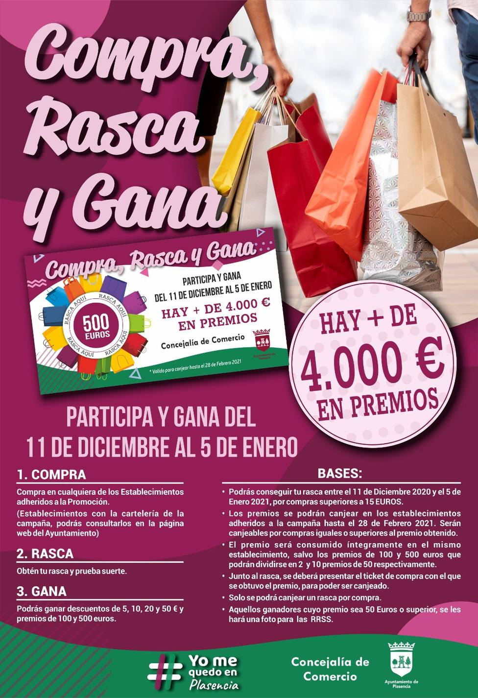Nueva campaña para incentivar las compras en el comercio de Plasencia