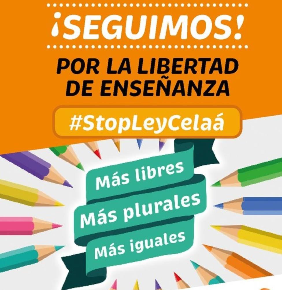 La Plataforma por la Libertad de Enseñanza en La Rioja convoca nuevas movilizaciones contra la Ley Celaá