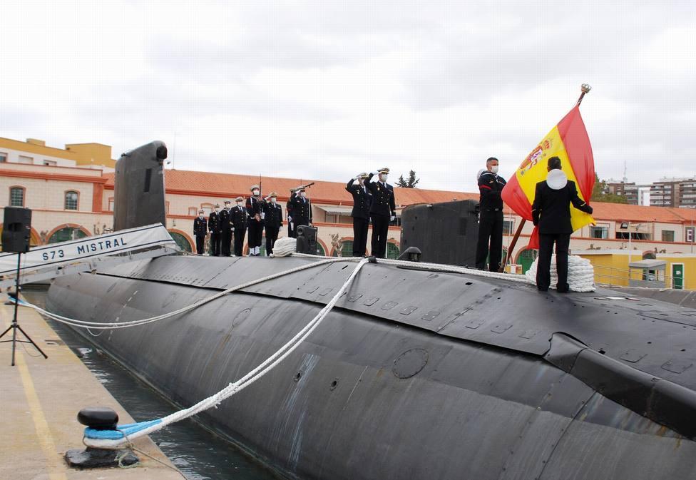 El submarino Mistral causa baja tras más de 35 años de servicio