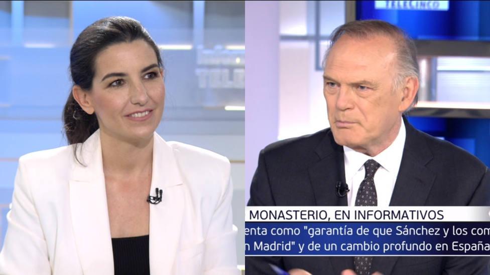 El aviso a Pedro Piqueras en plena entrevista con Rocío Monasterio: Me están diciendo desde control...