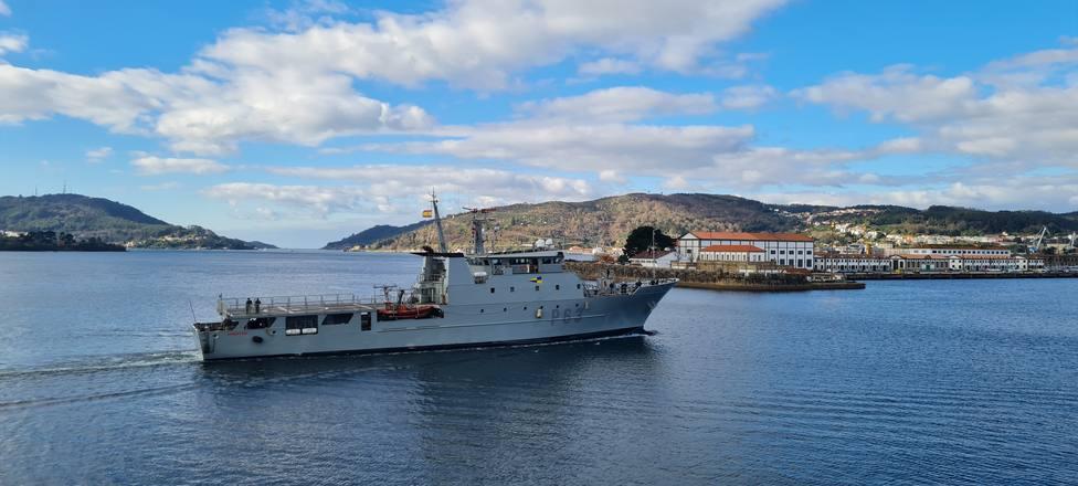 """Foto de archivo del patrullero """"Arnomendi"""" en aguas de la ría de Ferrol - FOTO: Armada"""
