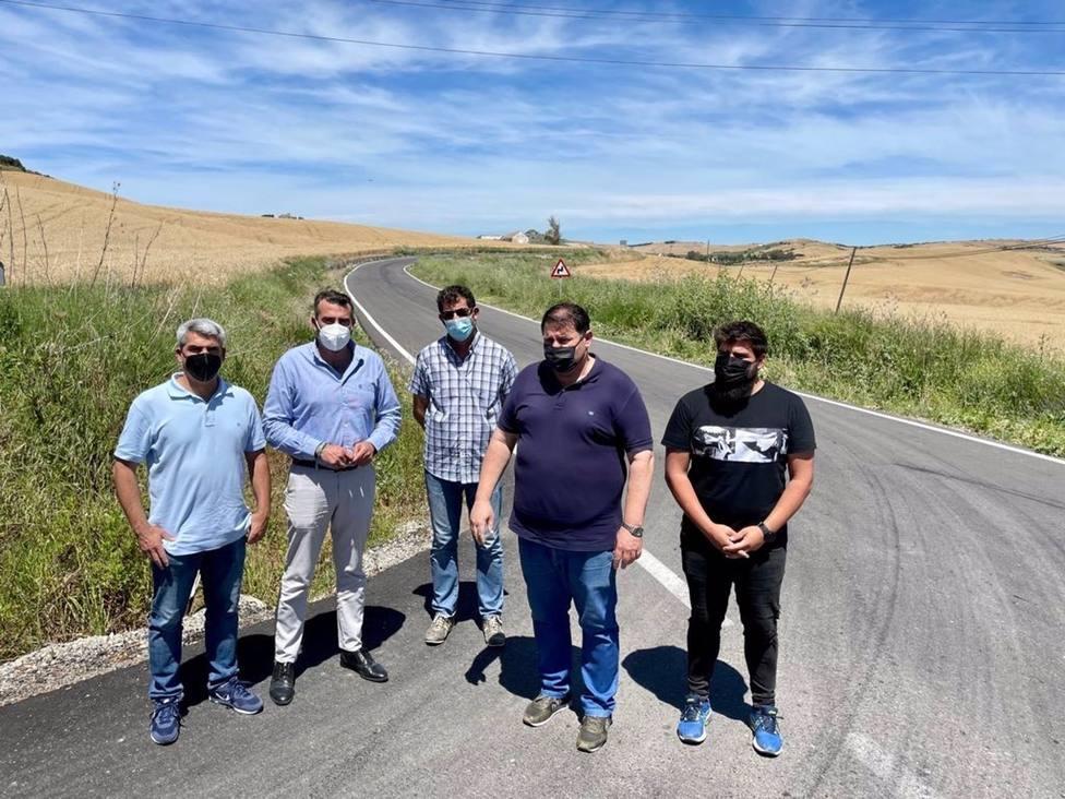 Diputación estabiliza el talud de la carretera Bornos-Espera