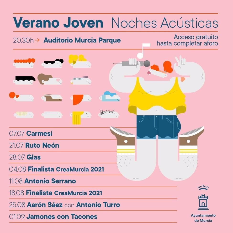 Noches acústicas para disfrutar del verano más joven en el Auditorio Murcia Parque