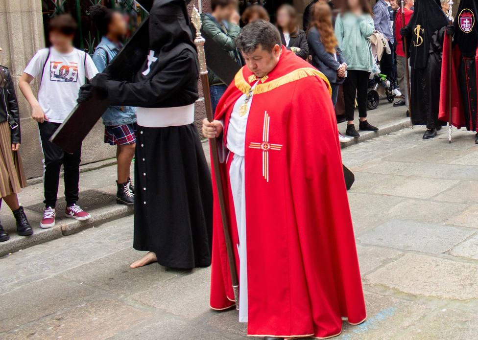 Pablo Vizoso durante una de las ediciones de la Semana Santa de Ferrol - FOTO: Roberto Marín