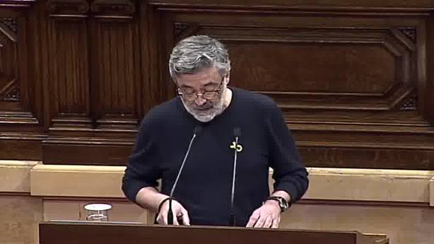 El portavoz de la CUP en el Parlament, Carles Riera