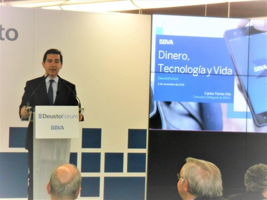 Torres (BBVA) pide que la regulación no penalice a la banca para evitar ser el salvaje Oeste