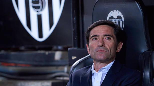 Marcelino García Toral, en el banquillo del Valencia. CORDONPRESS