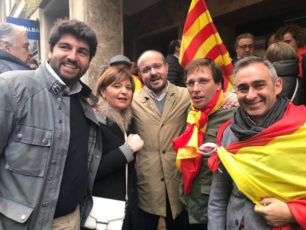 Díaz-Ayuso y López Miras creen que Sánchez ha intentado minimizar la concentración sin éxito