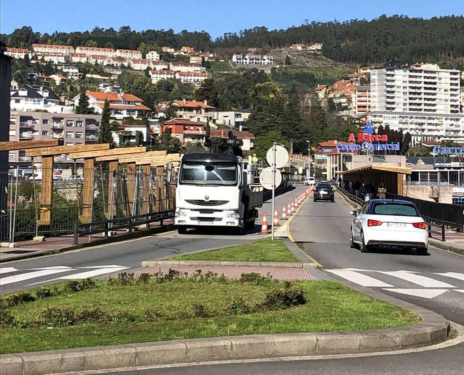 Obras de rehabilitación del puente de A Barca