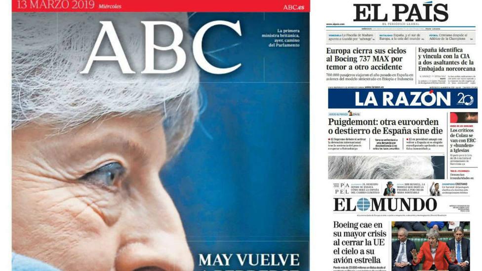 La crisis de Boeing y el Brexit, lo más destacado en las portadas de este miércoles