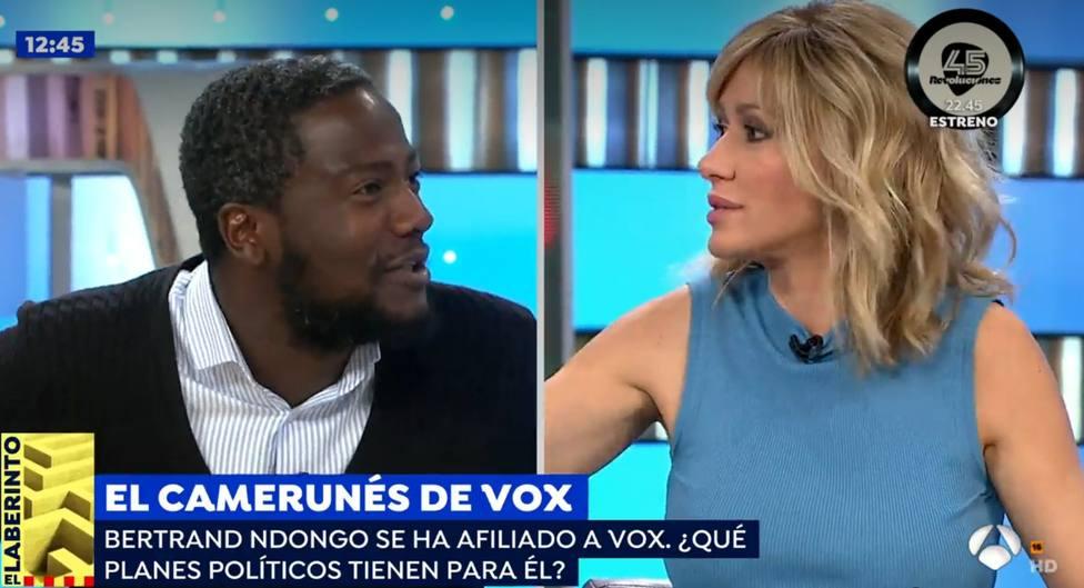 El tremendo rifirrafe entre Susanna Griso y el negro de VOX: ¿Quién te manda a ti hablar sobre Franco?