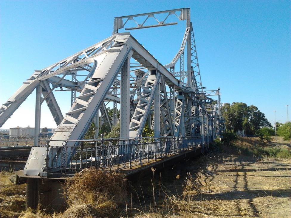 Estructura de hierro del puente de Alfonso XIII