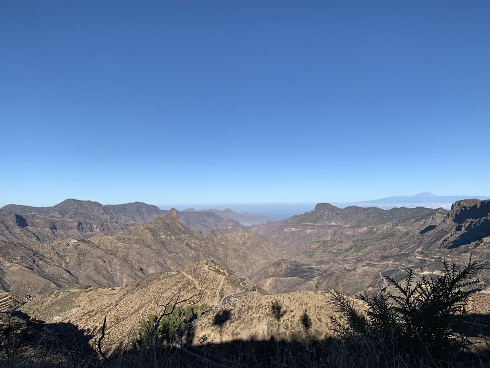 Vista de la zona de El Rincón de Tejeda