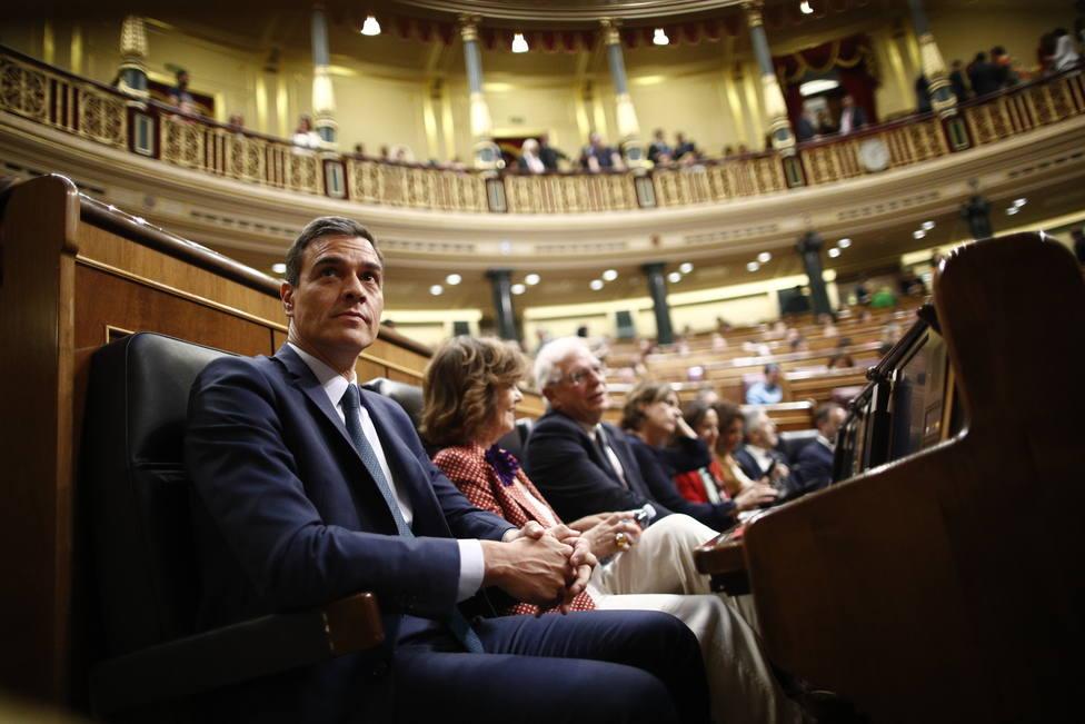 Sánchez se enfrenta mañana a su primer Pleno de control en el Congreso tras el fracaso de las negociaciones con Podemos