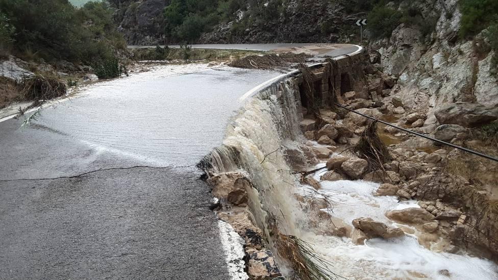 Beniarrés (Alicante) recoge más de 350 litros en las últimas 24 horas y en Ontinyent y Orihuela han caído más de 250