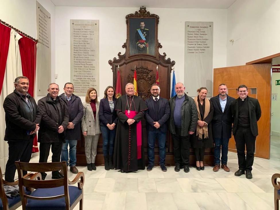 La corporación municipal recibe al Obispo D. Monseñor José Manuel Lorca Planes