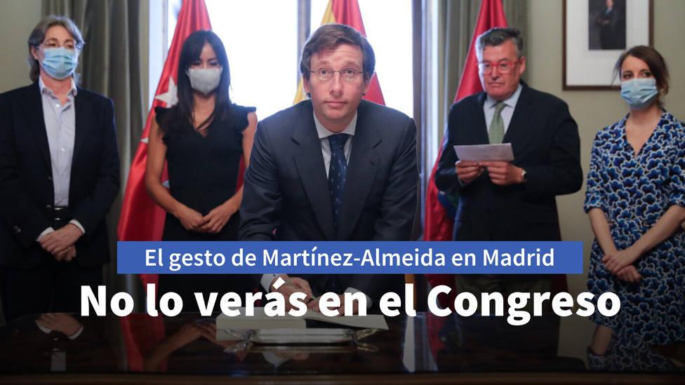 El gesto de calidad humana de Martínez-Almeida con la oposición que no verás en el Congreso