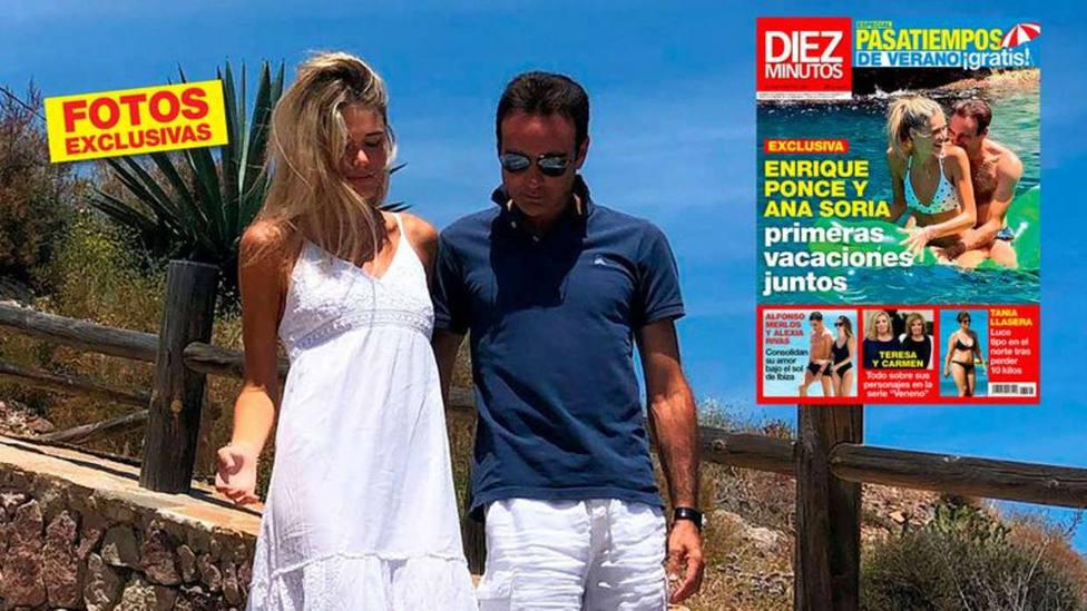 Enrique Ponce y Ana Soria, protagosnitas de la portada de Diez Minutos