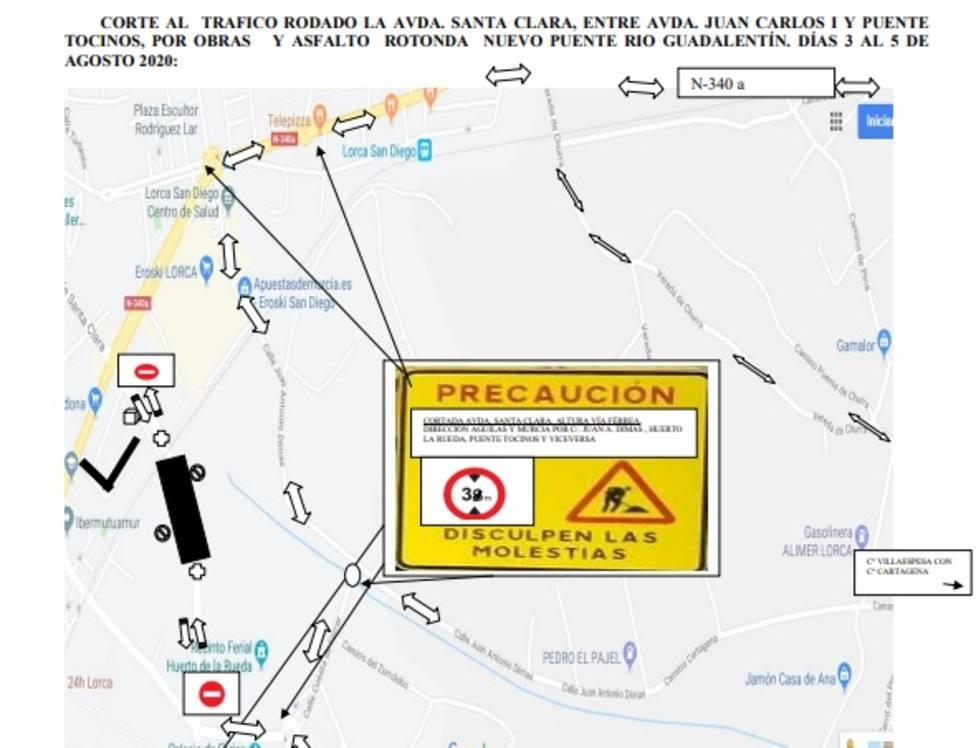 Normas especiales de circulación entre la Avenida Juan Carlos I y Puente Tocino