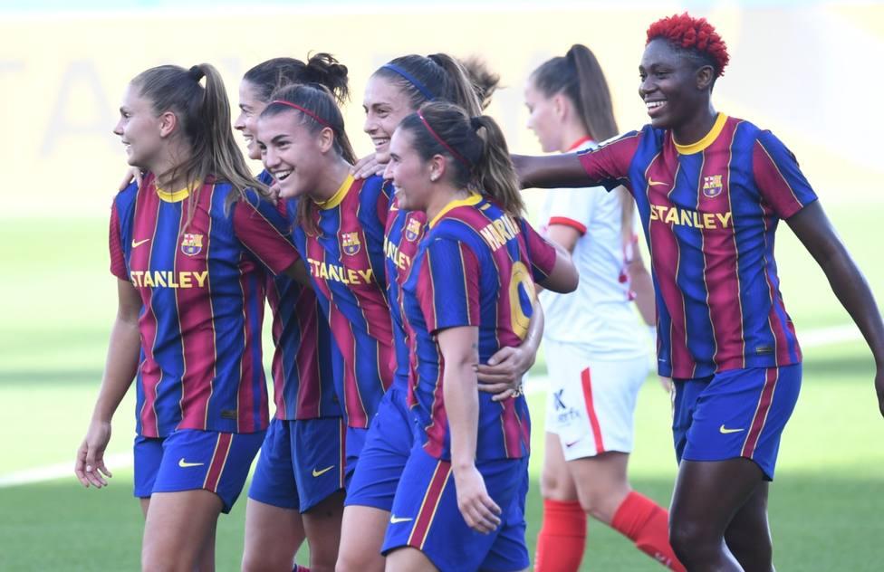 El Barcelona se cita con el EDF Logroño en la final de la Copa de la Reina tras golear al Sevilla
