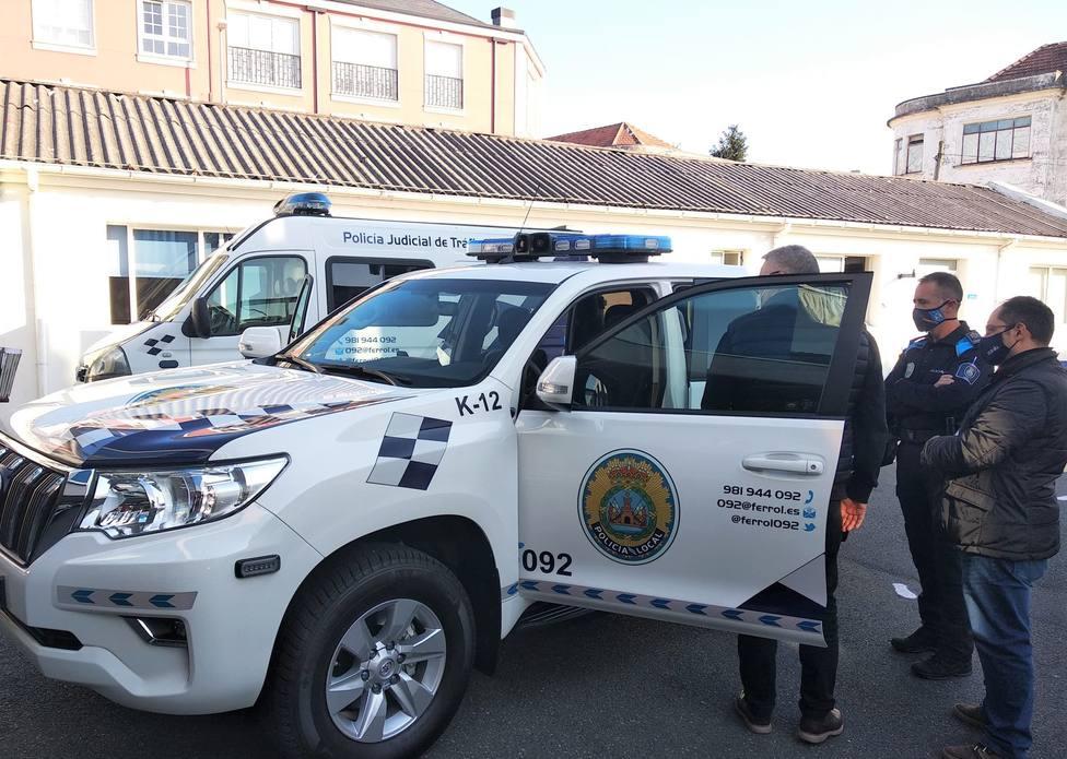 Nuevo vehículo todoterreno de la Policía Local de Ferrol. FOTO: Concello de Ferrol