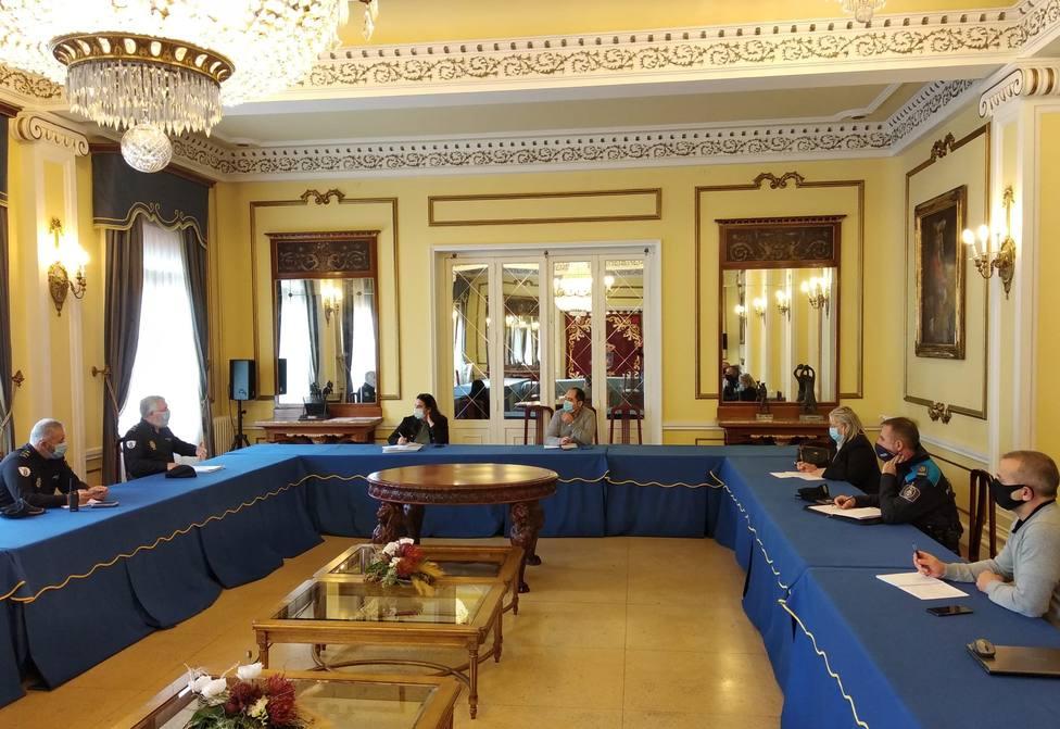 Reunión del grupo de trabajo en el concello de Ferrol. FOTO: Concello de Ferrol