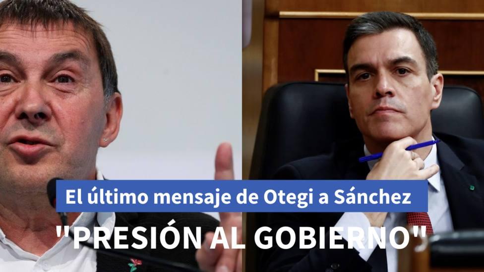 Otegi pide al gobierno de Pedro Sánchez la vuelta a su país de los presos, refugiados y deportados de ETA