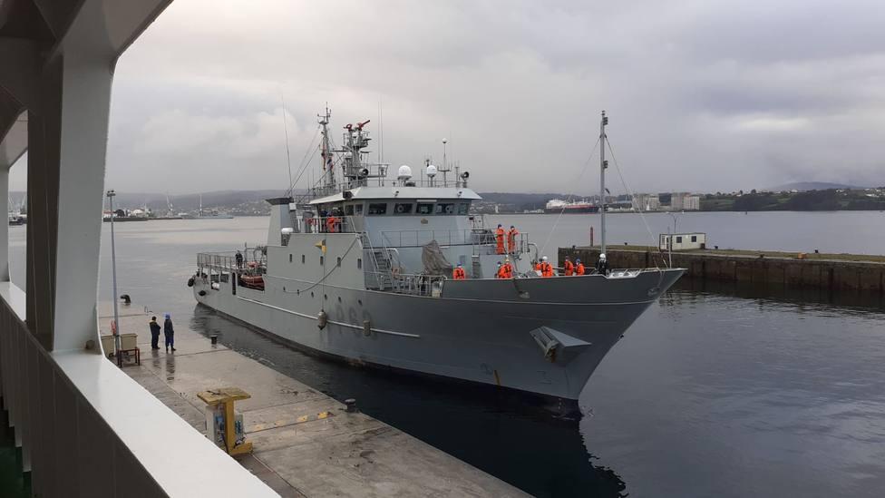 Foto de archivo del patrullero Arnomendi en agua de la ría de Ferrol - FOTO: Armada