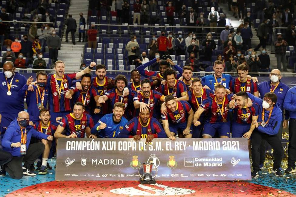 El Barcelona levanta su 25ª Copa del Rey tras vencer 27-35 en la final al Ademar de León