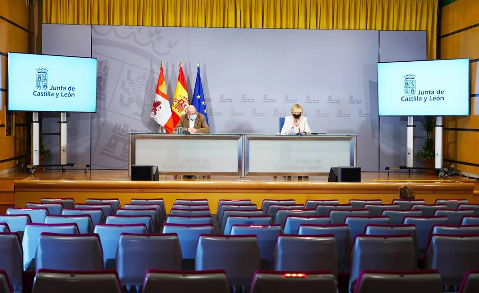 Francisco Igea y Verónica Casado en rueda de prensa posterior al Consejo de Gobierno
