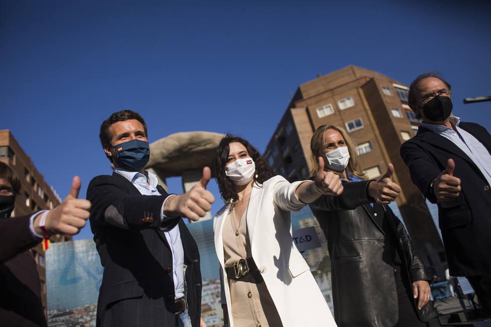 Casado pide apoyar a Ayuso para que el PP llegue a Moncloa: El 4M empieza el estado de alarma para el PSOE