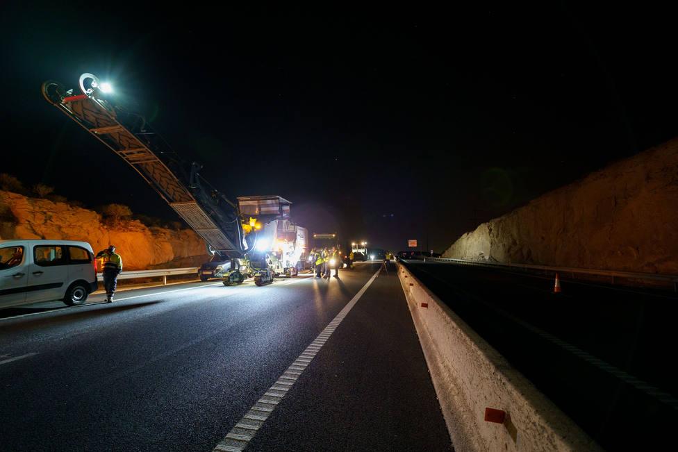 Reasfaltado autopista Sur TF-1, Cabildo de Tenerife