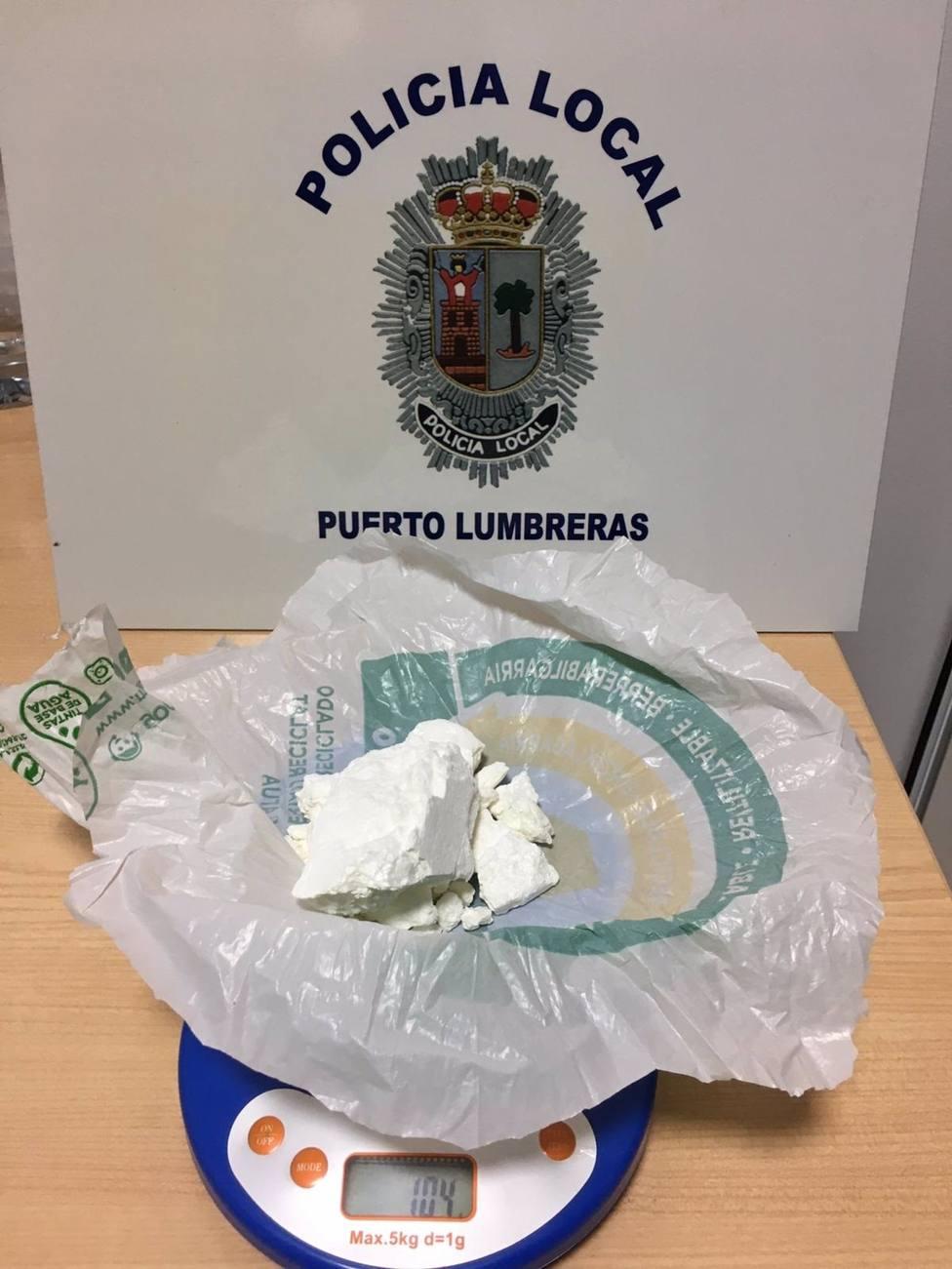 Imagen de la cocaína que portaba la detenida