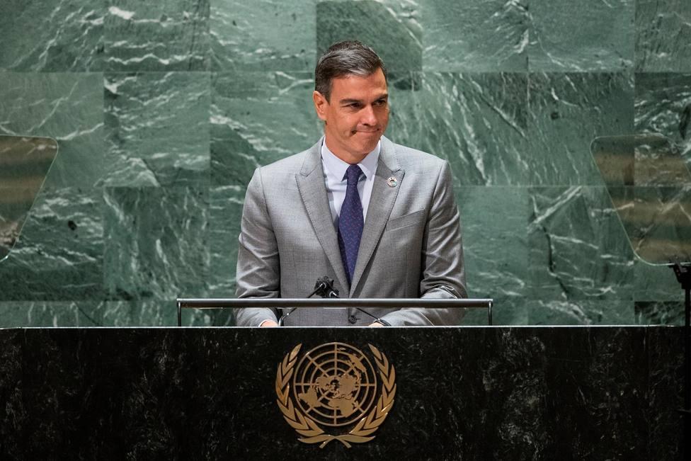 Sánchez advierte ante la ONU de que la democracia en el mundo está amenazada