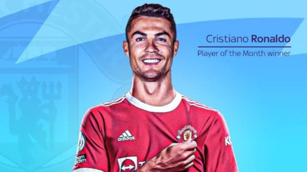 Cristiano Ronaldo, mejor jugador de la Premier League en septiembre