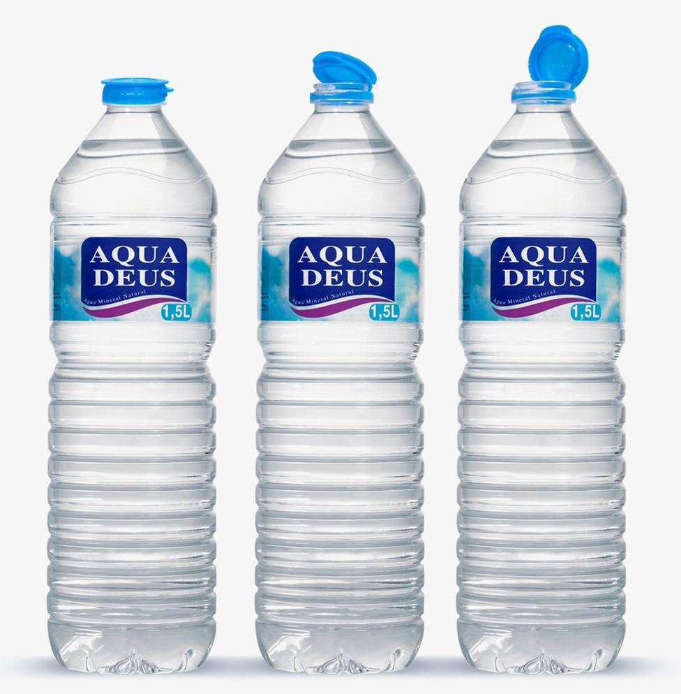 El formato de 1,5 litros de Aquadeus con tapón solidario