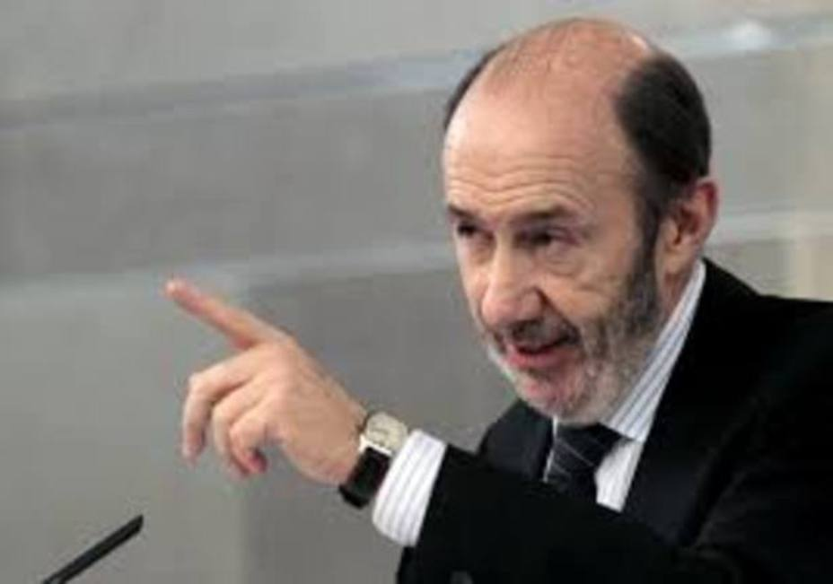 El exministro de InteriorAlfredo Pérez Rubalcaba