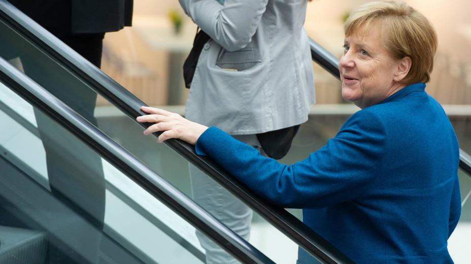 Angela Merkel en la Cumbre Digital en Nuremberg, Alemania