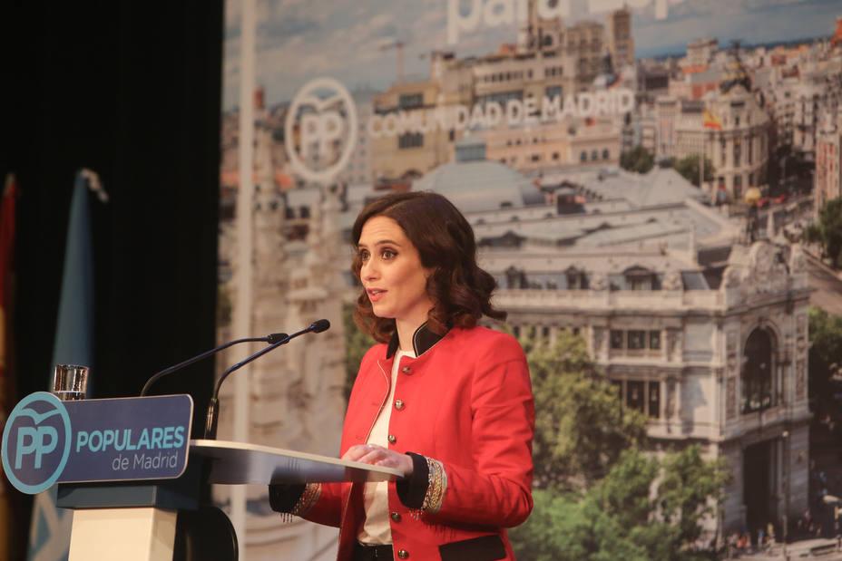 Díaz Ayuso reivindica al PP como el muro de contención de la izquierda en Madrid: Vamos a conquistar el futuro