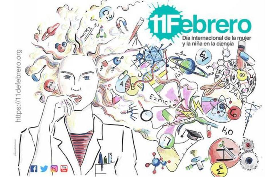 Imagen del cartel Mujer y Niña en la Ciencia